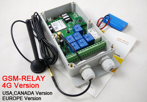 GSMRELAY4G Remote control switch relay control switch