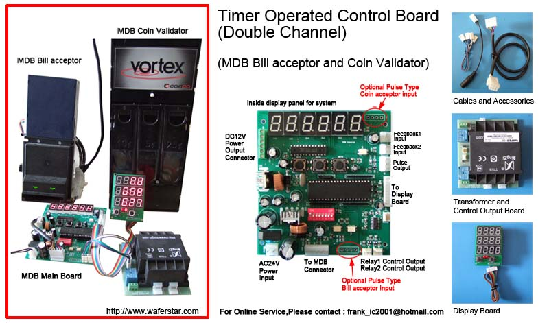 Control Board For Vending Machine Coin Bill And Cashless