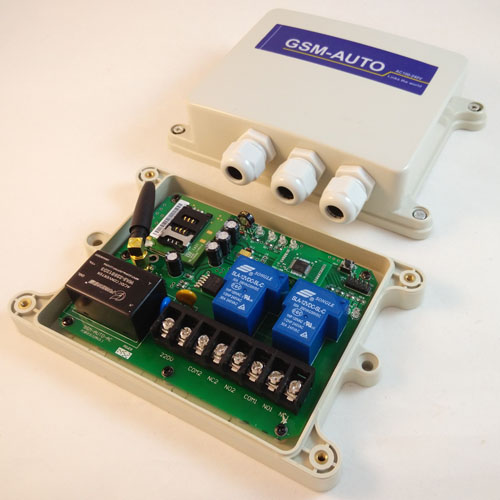GSM SMS Remote control box, GSM relay switch controller